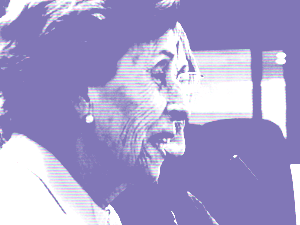 Imatge d'una participant de Tortosa parlant per videoconferència