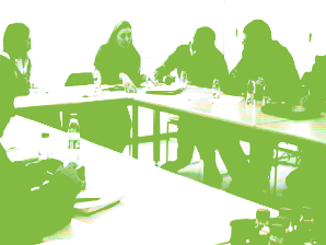 Imatge grup de treball preparatiu de la jornada de la Internet Social 2009