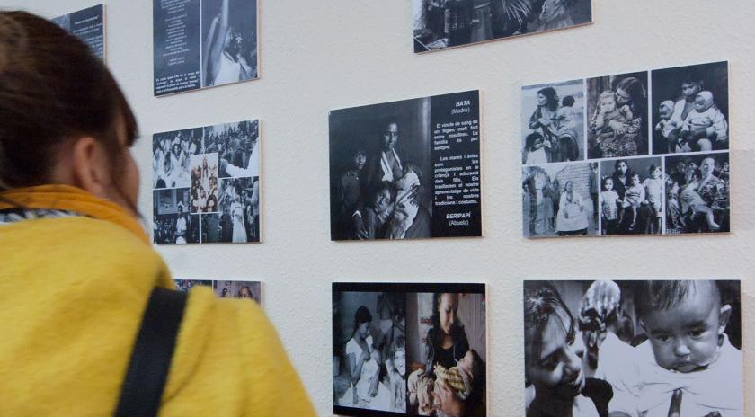 Imatge de la inauguració de les exposicions.
