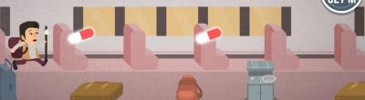"""Una de les escenes del joc """"Que tiemble el camino"""""""