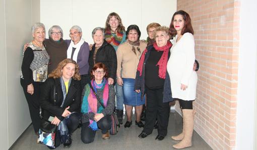 Les arpilleres de l'Ateneu de St. Roc de visita a les arpilleres del Punt.