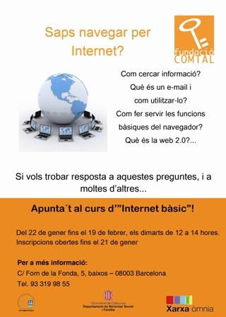 cartell taller internet bàsic òmnia tria fundació comtal