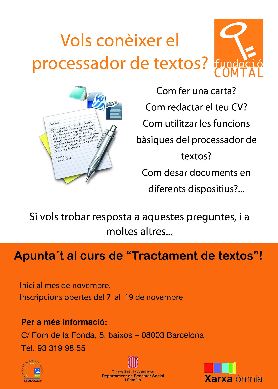 cartell formació processador de textos