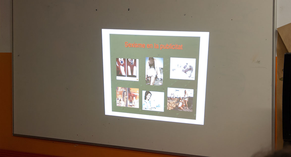 Imatge del taller d'igualtat de gènere al Punt Òmnia La Balconada.