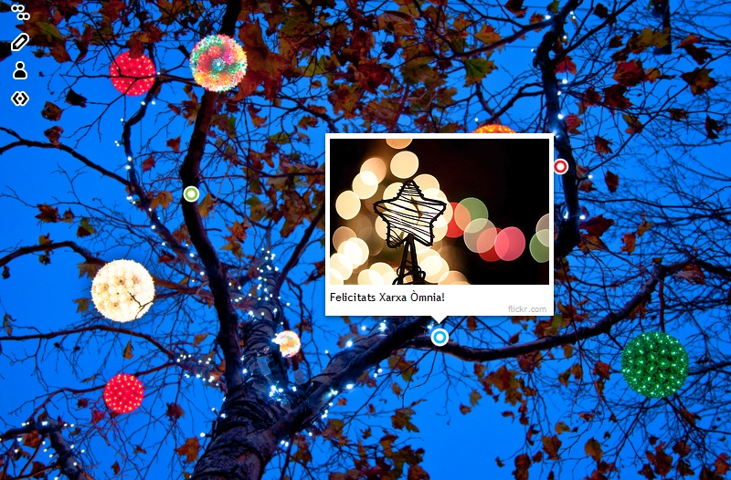 """imatge de la felicitació """"llums d'Òmnia"""""""