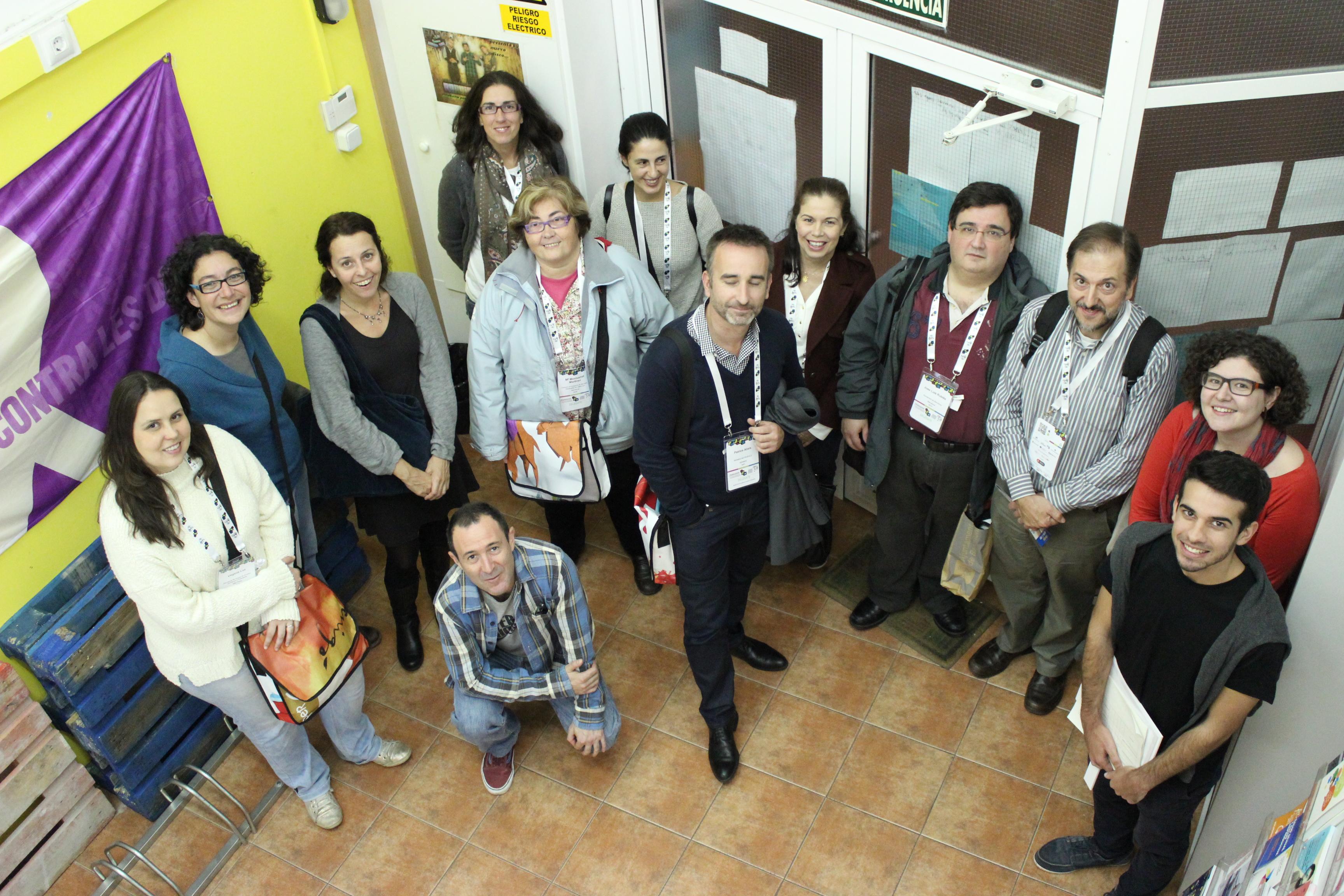 foto grup visita Congrés Ciutats Educadores
