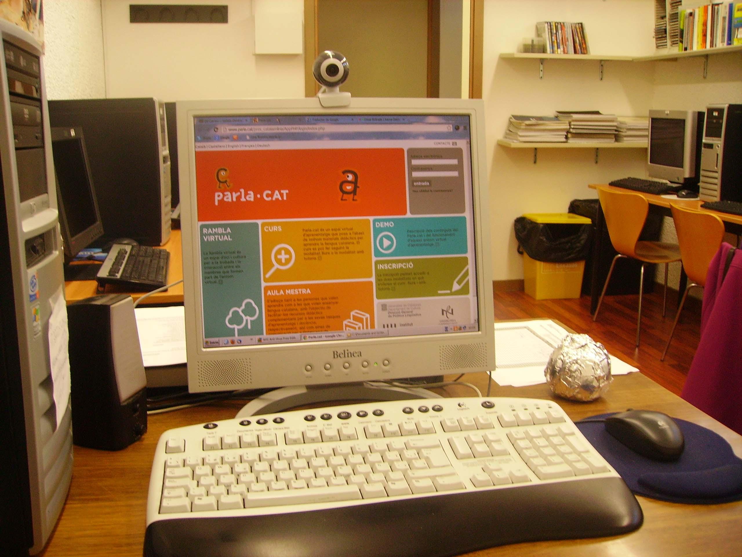 Pàgina web de Parla.cat