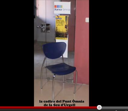 La cadira del Punt Òmnia de la Seu d'Urgell
