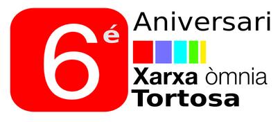 logo 6è aniversari Òmnia Tortosa