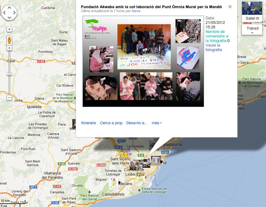 Captura del mapa de la MaratÒmnia