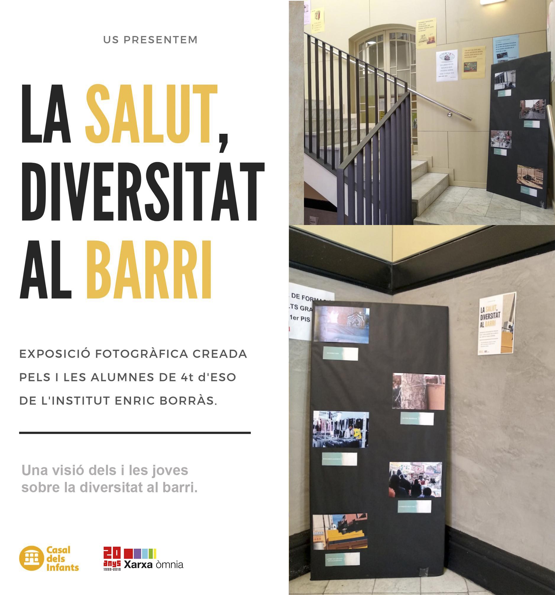 """El Punt Òmnia Betsaida i els joves de l'IES Enric Borràs de Badalona s'uneixen per crear l'exposició """"La Salut, diversitat al barri"""""""