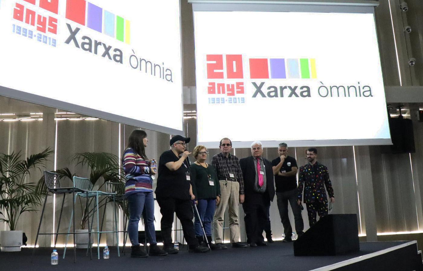 Ponents de la jornada pels 20 anys de la Xarxa Òmnia