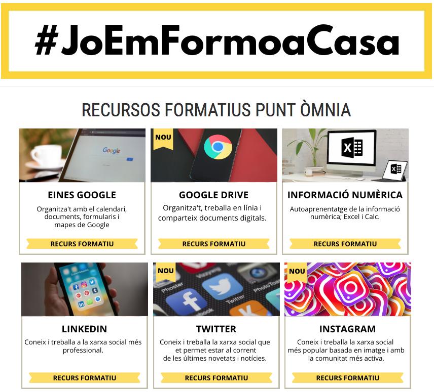 #JoEmFormoaCasa: recursos formatius del Punt Òmnia Vapor Llonch