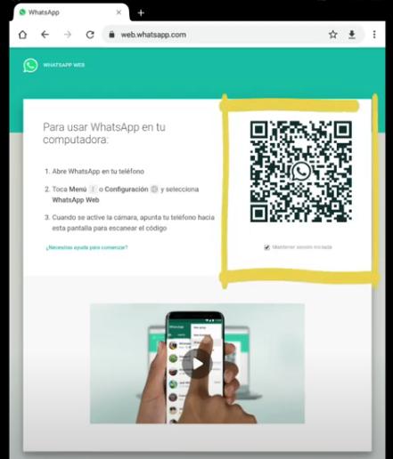 Com accedir a WhatsApp web