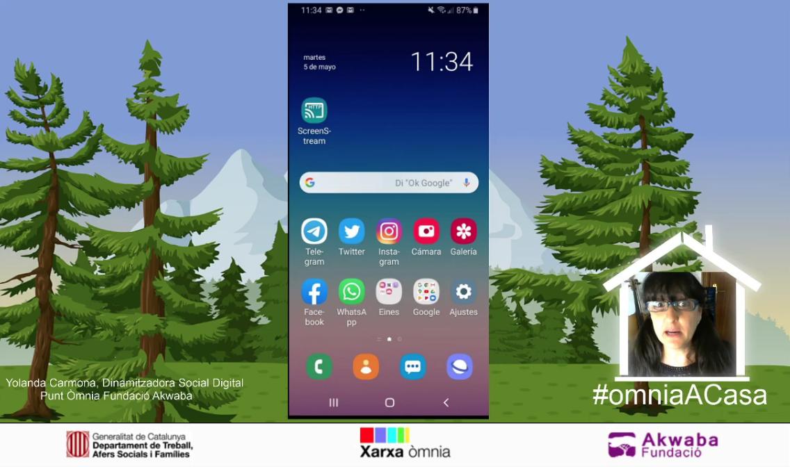 Captura de pantalla del videotutorial sobre com enviar un correu de Gmail des del mòbil