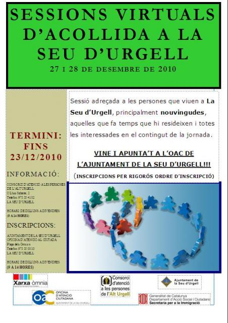 Cartell acollida Seu d'Urgell