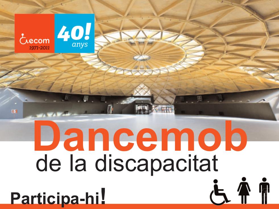 Captura del cartell de la dancemob de la discapacitat d'ecom