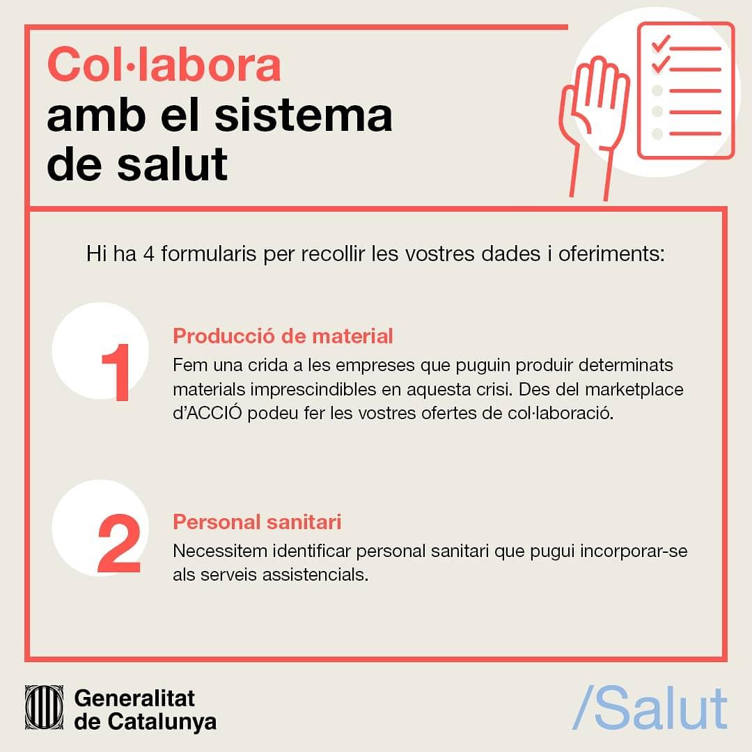 Cartell sobre com col·laborar amb el sistema sanitari