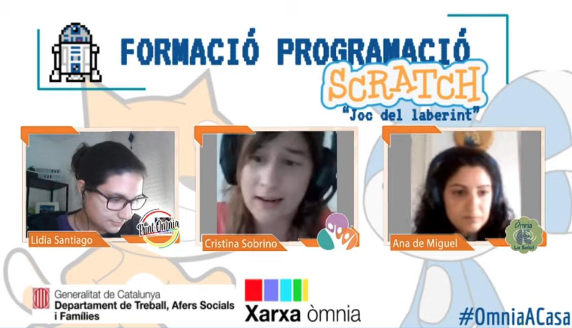 Captura de pantalla de la formació Scratch