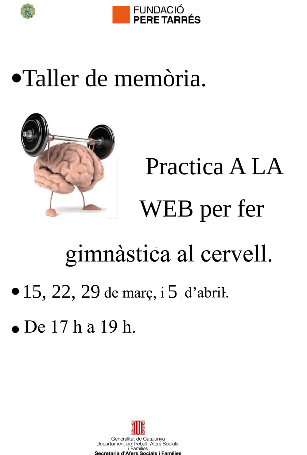 Cartell del taller Gimnàstica per al cervell