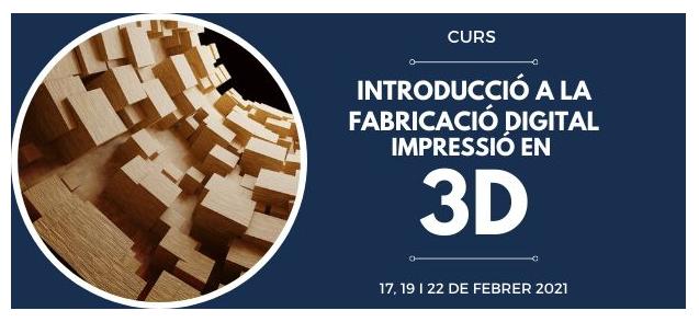 Cartell de la formació sobre impressió 3D
