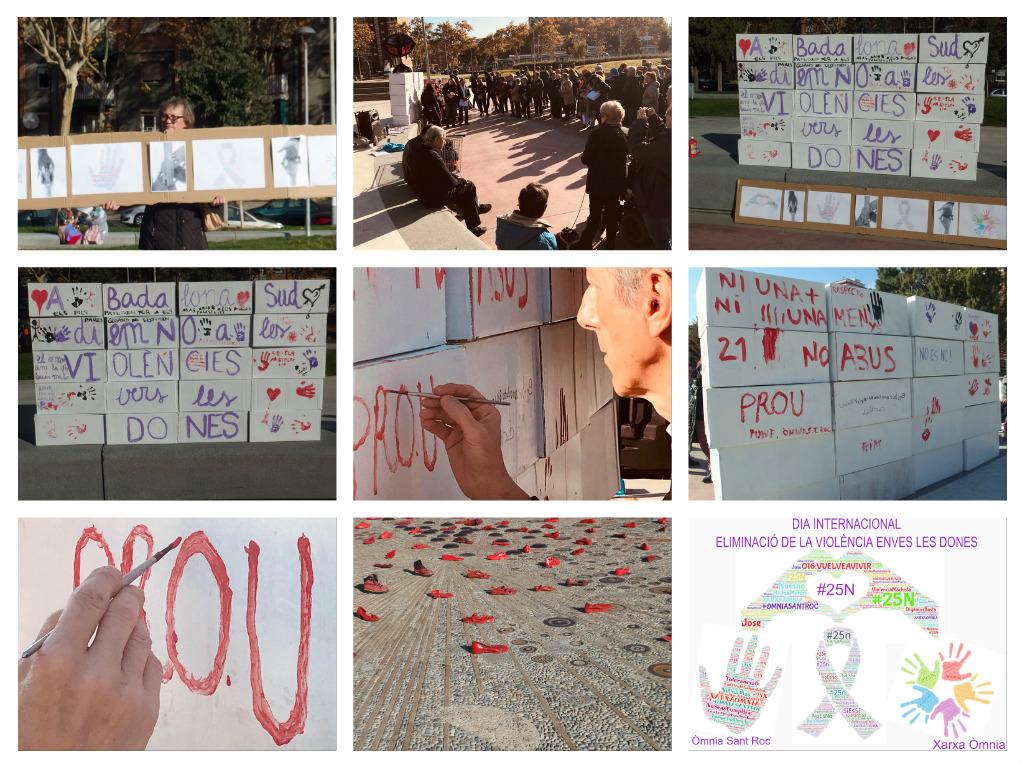 25N Òmnia Sant Roc Dia eliminació violència contra les dones badalona