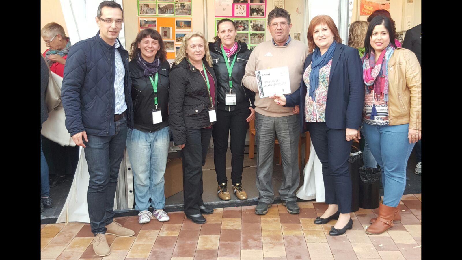 AVV Centcelles amb autoritats de l'Ajuntament de Constantí