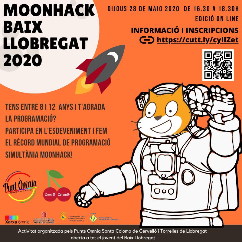 Cartell de Moonhack al Baix Llobregat