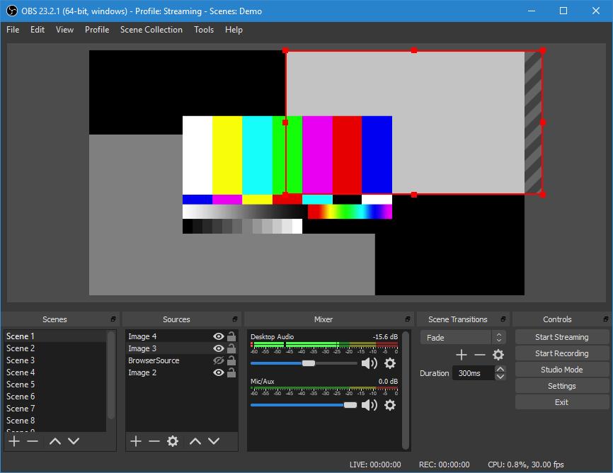 Treballant amb lOpen Broadcaster Software