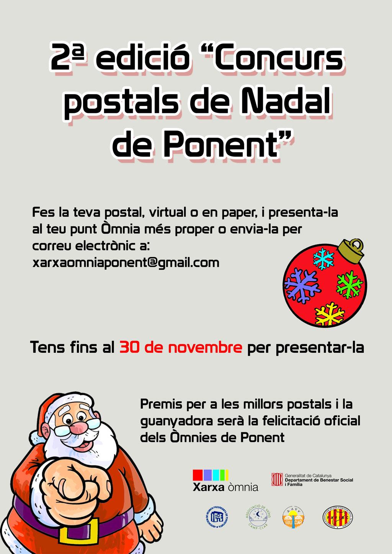 """Cartell 2a Edició """"Concurs postals de Nadal de Ponent"""""""