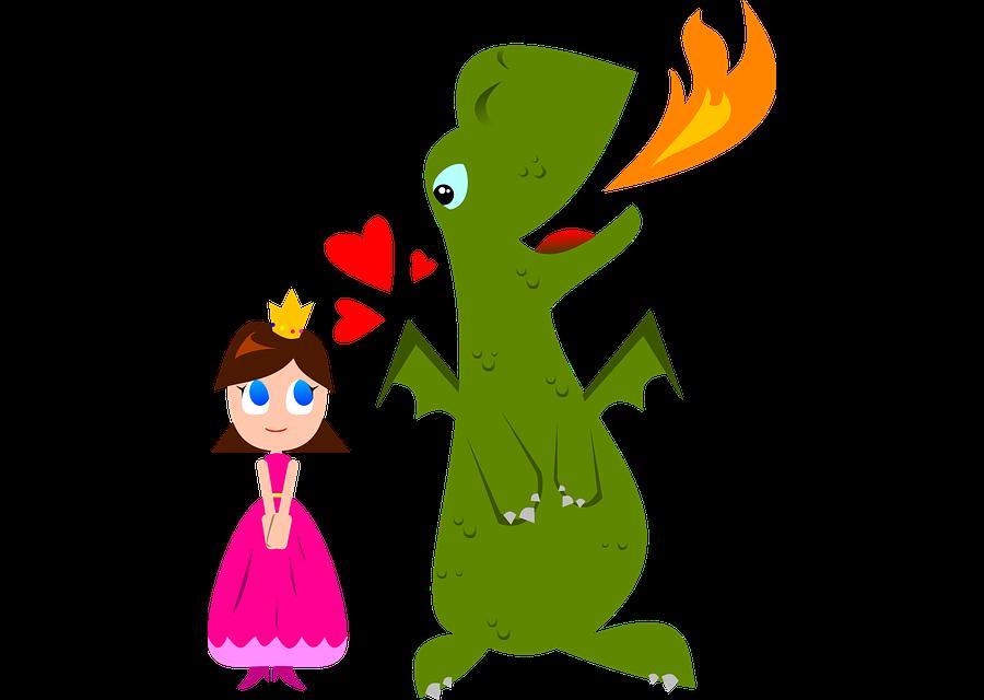 Princesa i drac enamorats