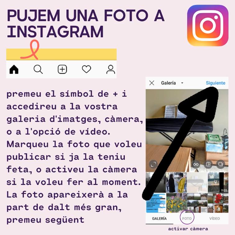 Part del víde sobre Instagram