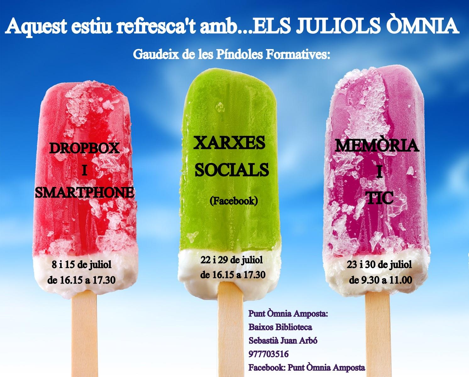 cartell gelats activitats d'estiu