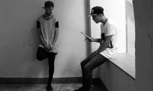 'Frame' del videoclip.