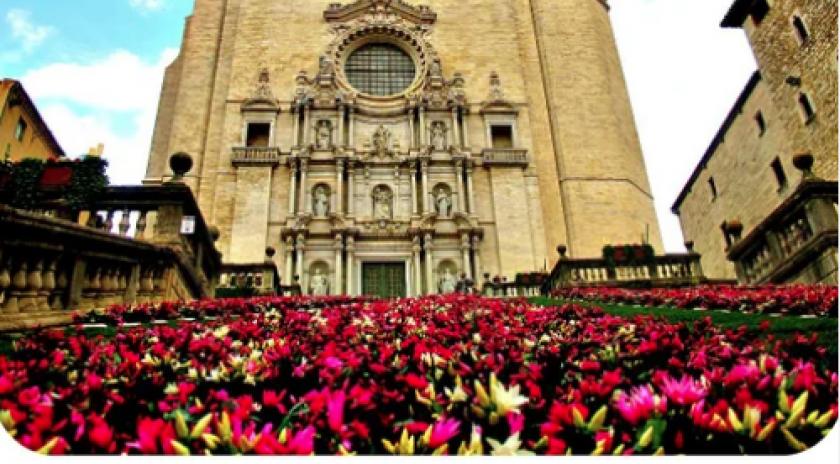Girona Est, primavera i flors