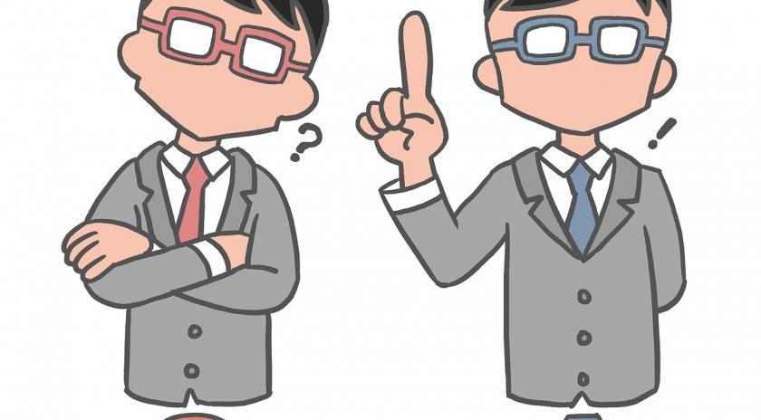 Il·lustració amb dues persones pensant