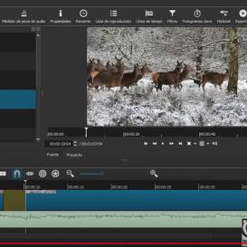 Captura de pantalla del videotutorial sobre ShotCut