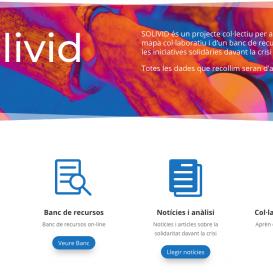 SOLIVID, mapa col·laboratiu i banc de recursos en línia sobre les iniciatives solidàries davant la crisi de la Covid-19