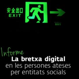 Portada de l'estudi 'La bretxa digital en les persones ateses per entitats socials'