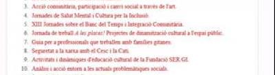 captura de pantalla del butlletí d'inserció social i comunitària