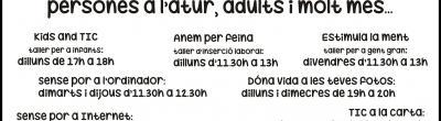 cartell activitats punt Òmnia Font dels Capellans