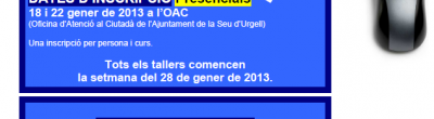 Cartell tallers d'hivern