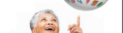 senyora amb globus aplicacions