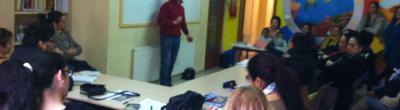 Imatge de la xerrada al punt Òmnia de Figueres