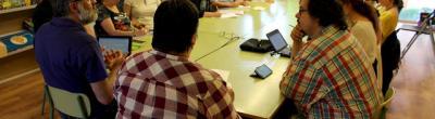 foto jornada formació comunitària,  29/05/2015 al Casal Cívic Lleida