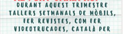 Cartell de les activitats del Punt Òmnia el Xup