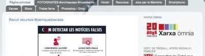 Captura de pantalla del blog del Punt Òmnia de Solsona