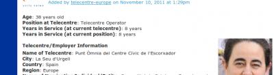 Captura del currículum de l'Ester Collado a Telecentre.org
