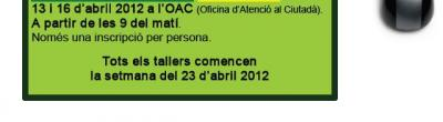 Cartell de l'oferta de primavera a la Seu d'Urgell