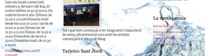 Captura de la portada del bloc del Xup